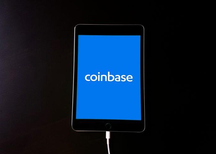 Coinbase Logo on Ipad Dogecoin