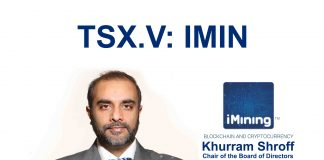 Khurram Shroff 1 - Chair of the Board of Directors -iMining