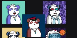 CryptoMode Posh Pandas NFT OpenSea
